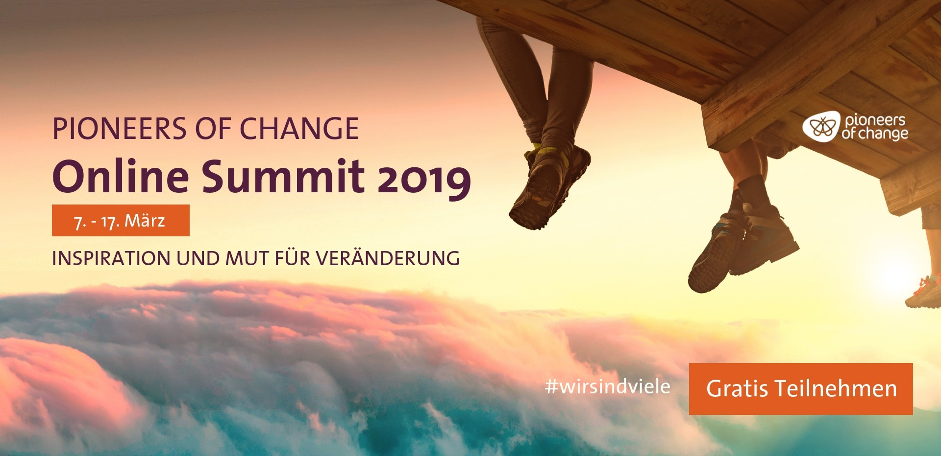PIONEERS OF CHANGE Online Summit, 07. – 17. März 2019.